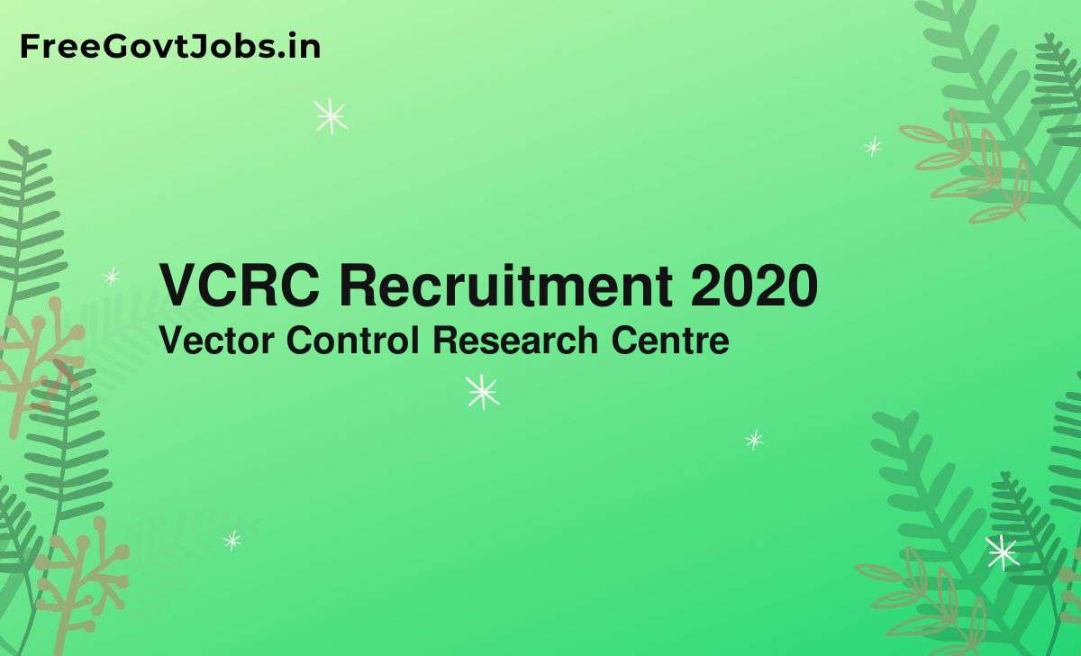 vcrc recruitment 2020