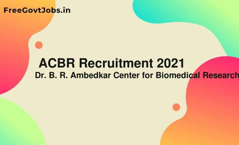 ACBR Recruitment 2021