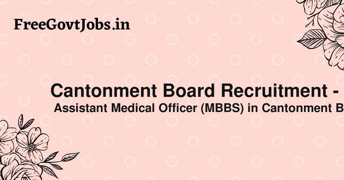 cantonment board recruitment dehuroad