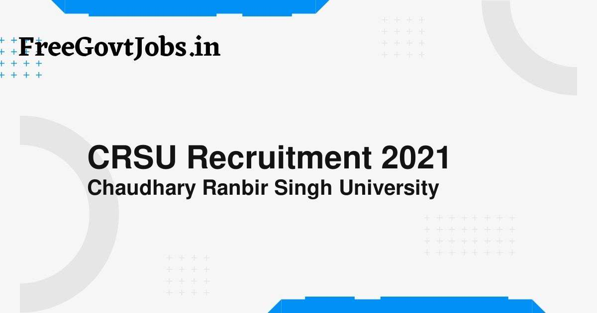 crsu recruitment 2021