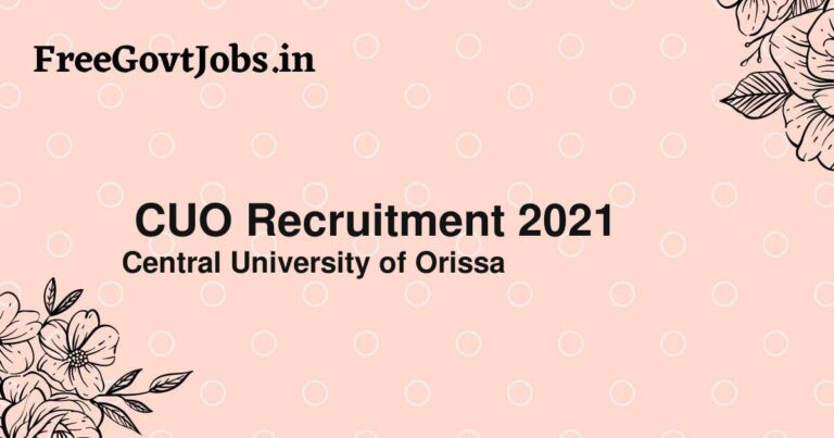 CUO Recruitment 2021