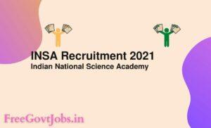 INSA Recruitment 2021