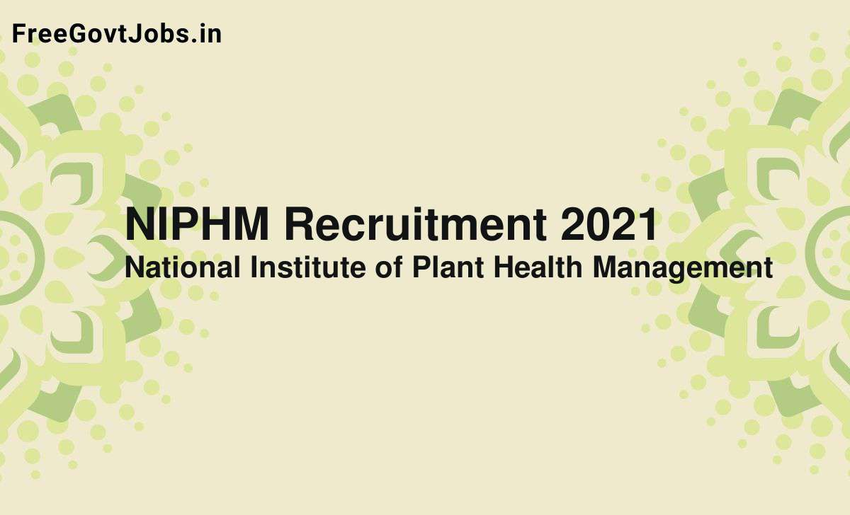 niphm recruitment 2021