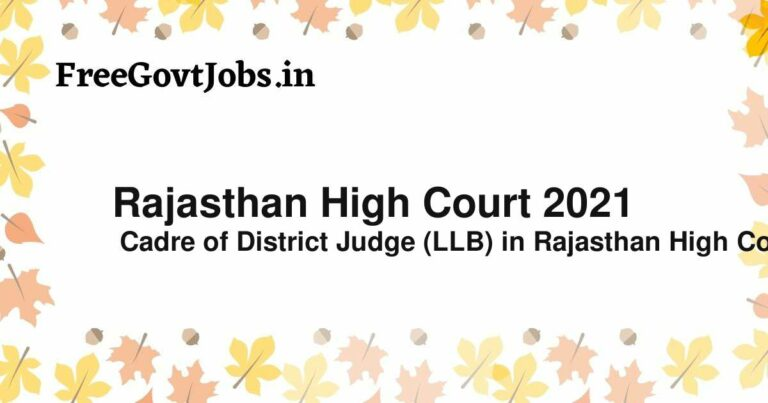 Rajasthan High Court 2021