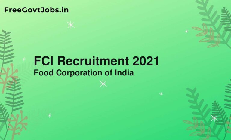 FCI Recruitment 2021