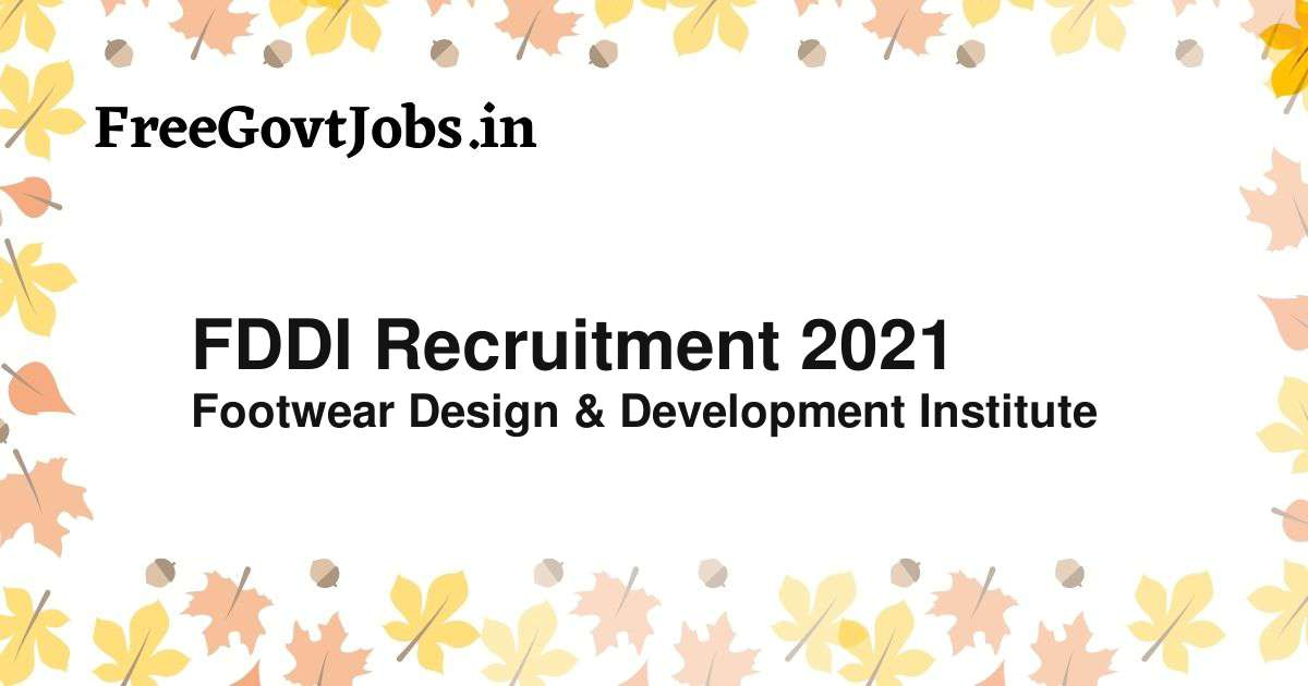 fddi recruitment 2021