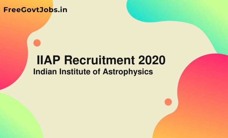 IIAP Recruitment 2020