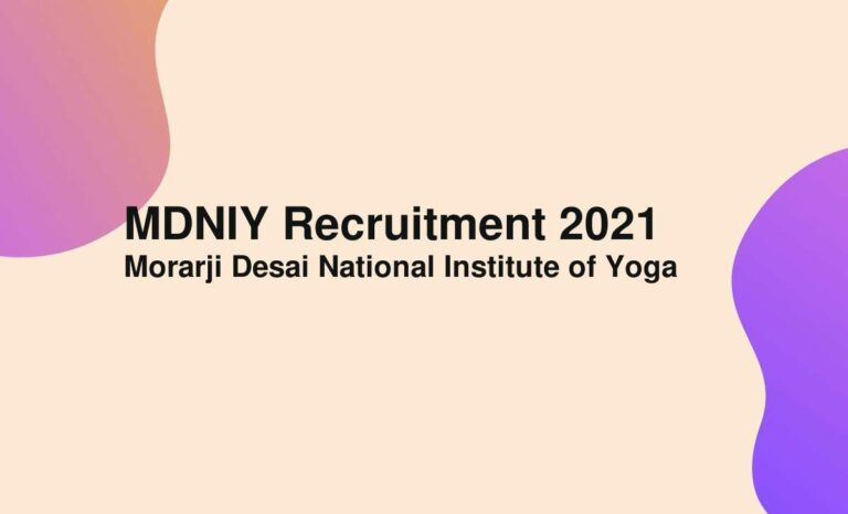 MDNIY Recruitment 2021