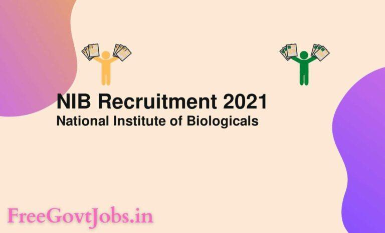 NIB Recruitment 2021
