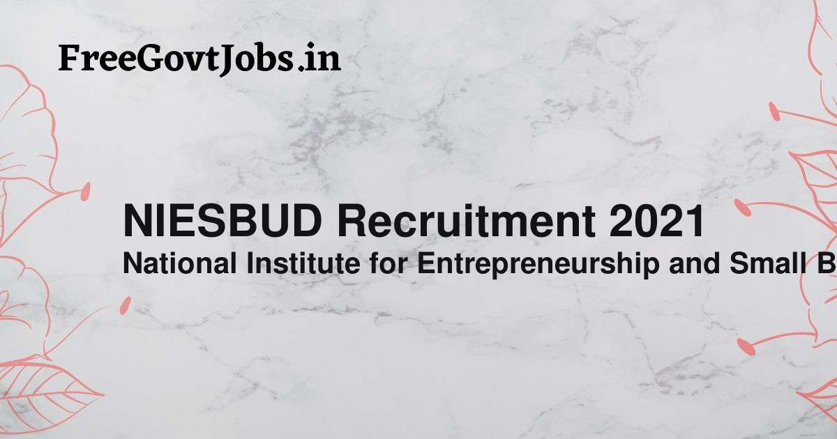 niesbud recruitment 2021