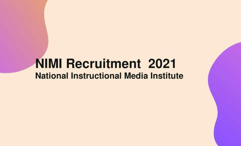 NIMI Recruitment  2021