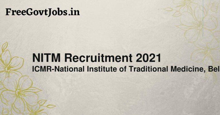 NITM Recruitment 2021