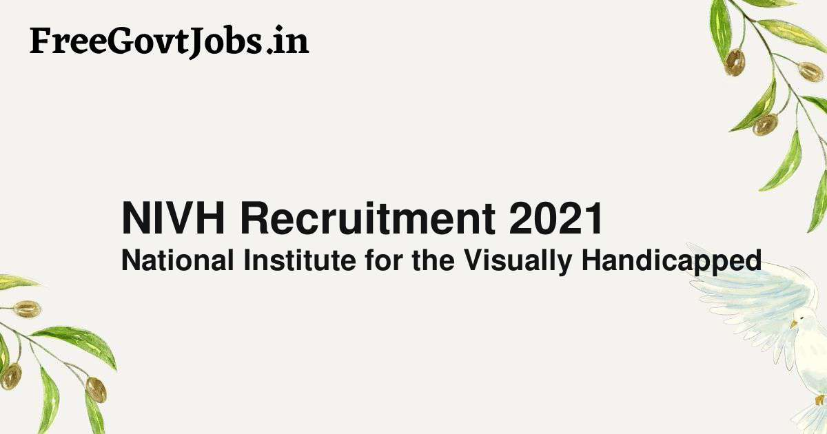 nivh recruitment 2021