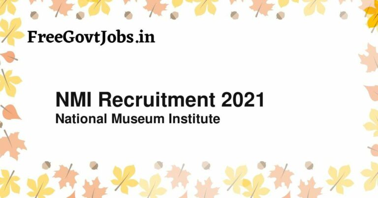 NMI Recruitment 2021