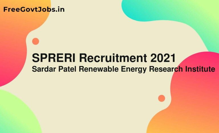 SPRERI Recruitment 2021