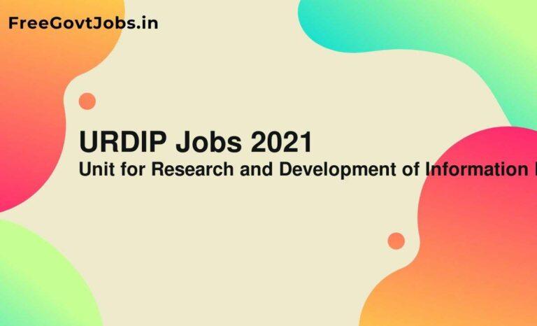 URDIP Jobs 2021