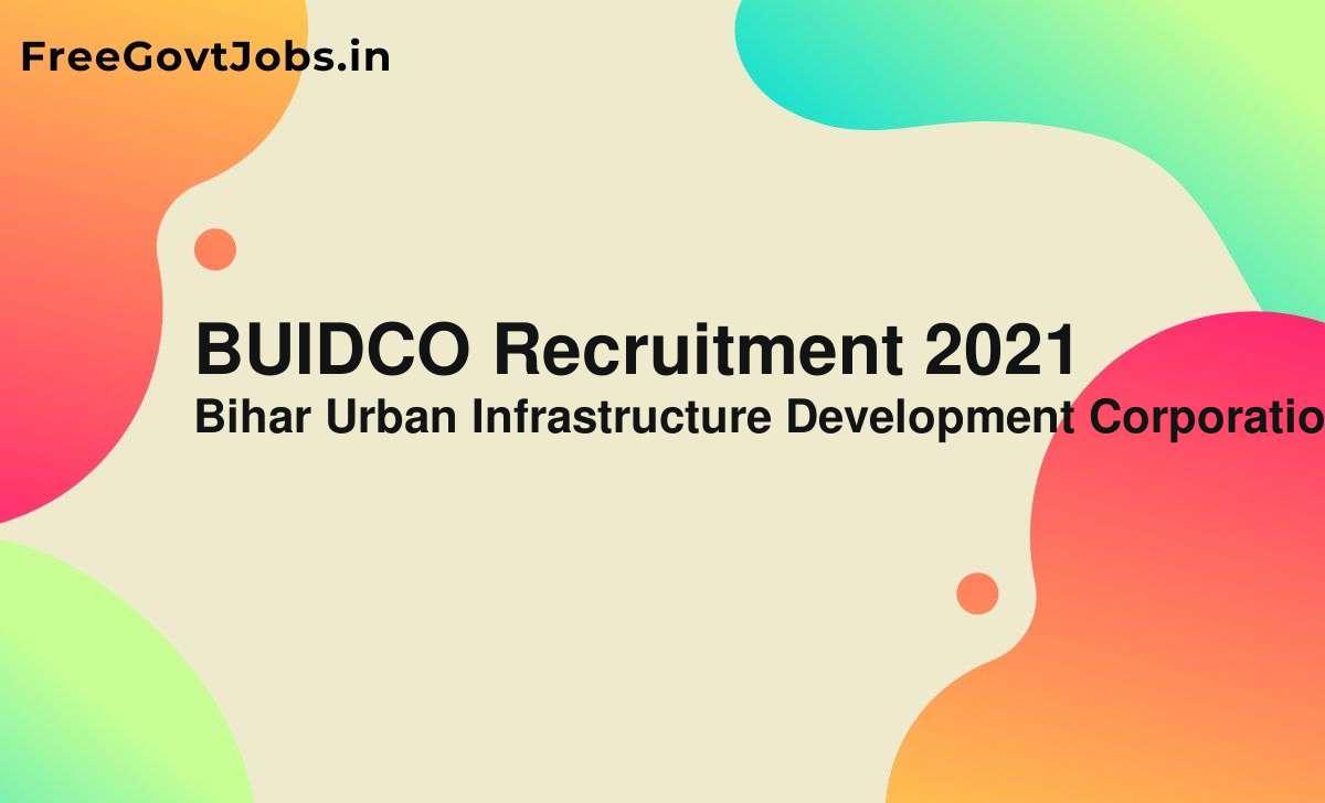 buidco recruitment 2021