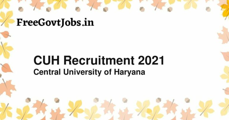 CUH Recruitment 2021