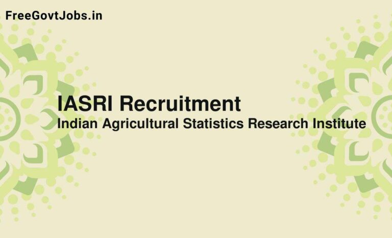IASRI Recruitment