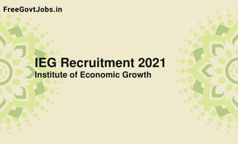 IEG Recruitment 2021