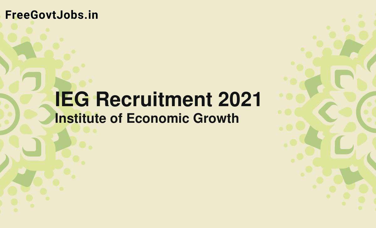 ieg recruitment 2021