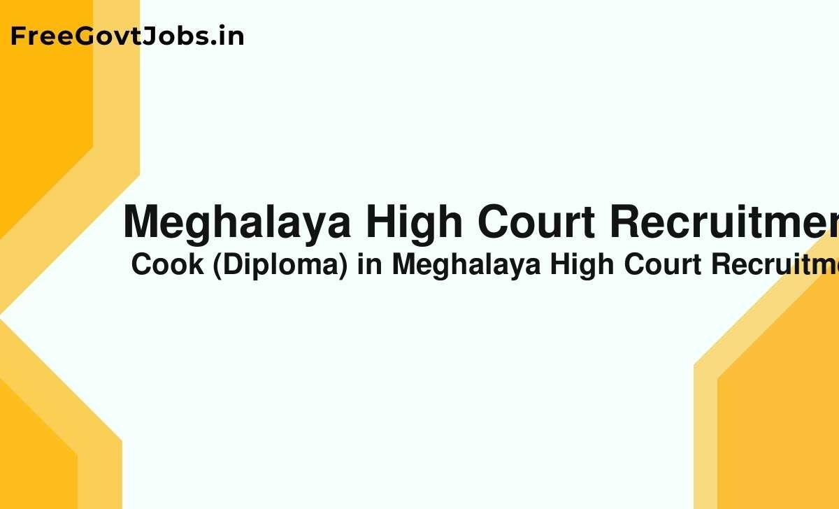 meghalaya high court recruitment 2021