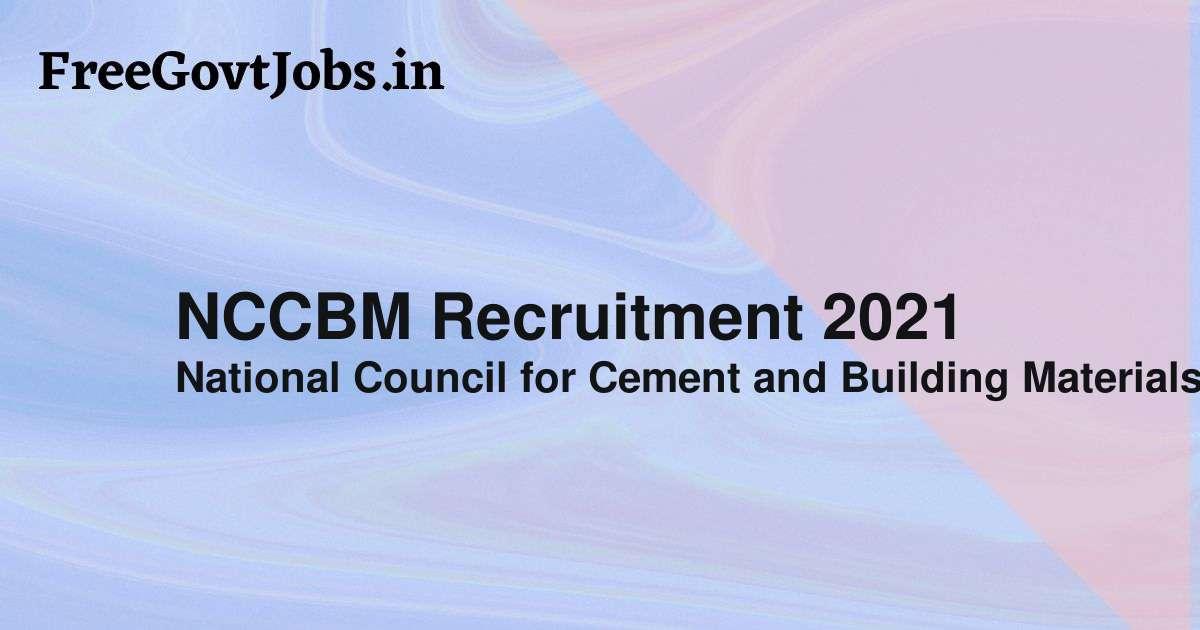 nccbm recruitment 2021