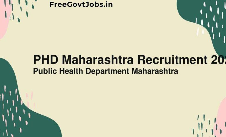 PHD Maharashtra Recruitment 2021