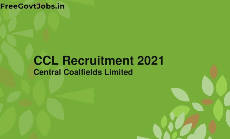CCL Recruitment 2021