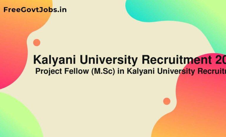 Kalyani University Recruitment 2021