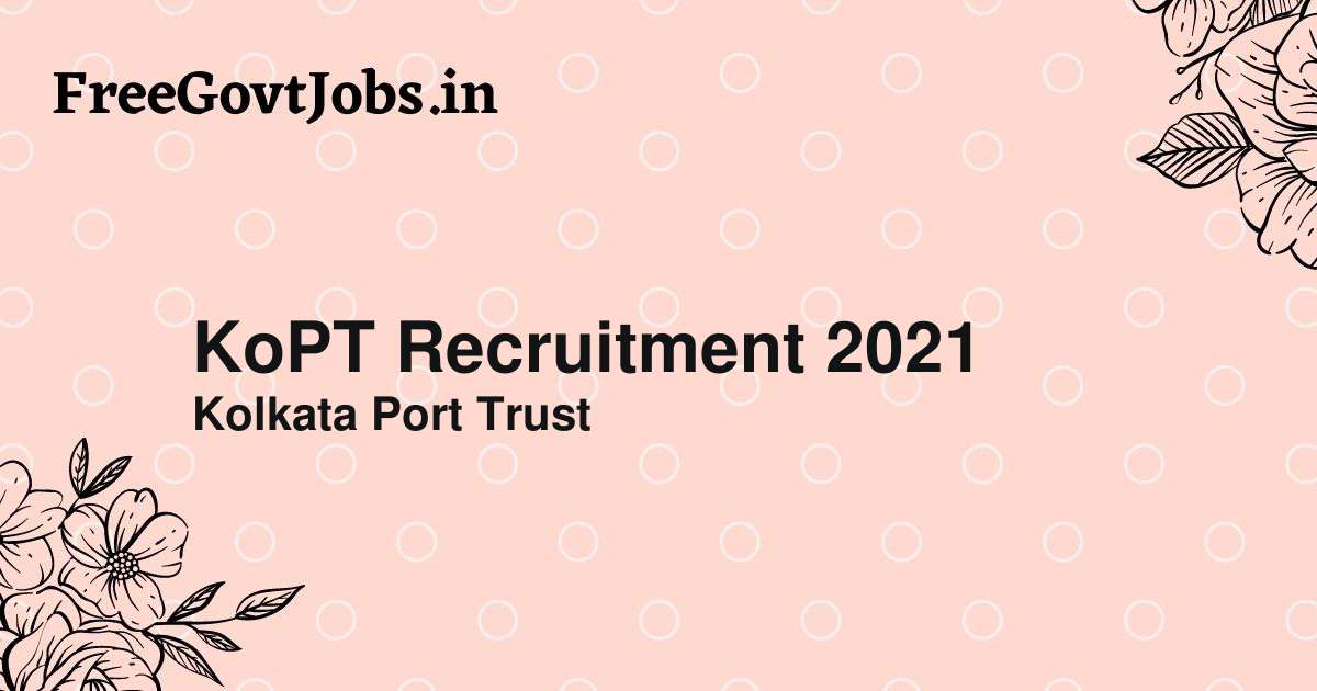 kopt recruitment 2021