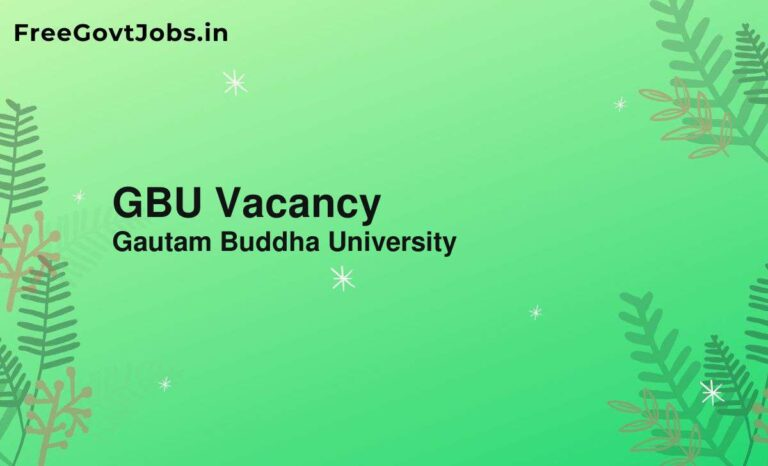 GBU Vacancy
