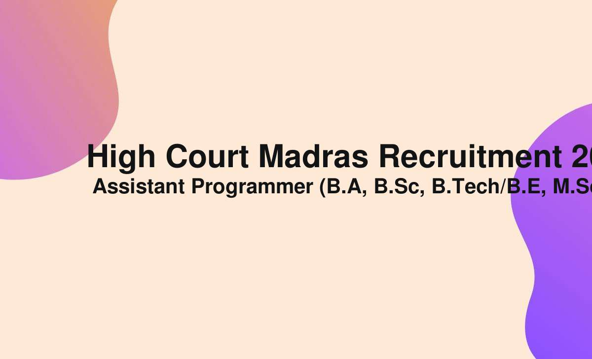 high court madras recruitment 2021