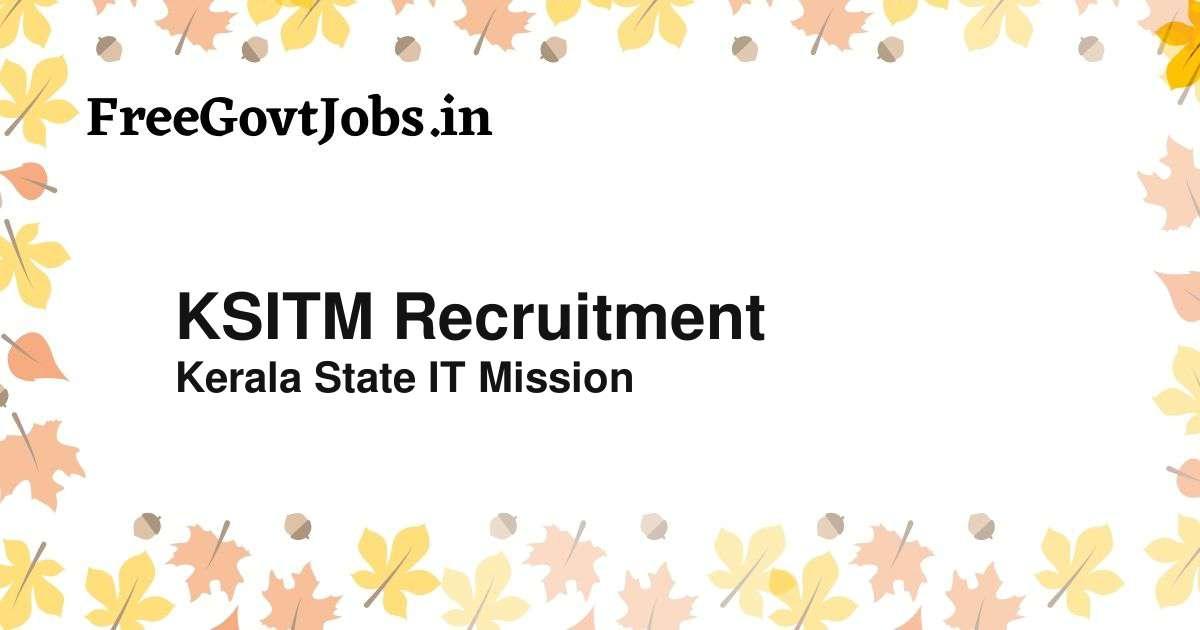 ksitm recruitment