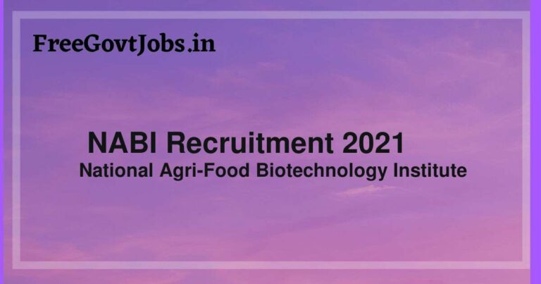 NABI Recruitment 2021