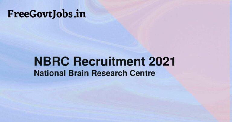 NBRC Recruitment 2021