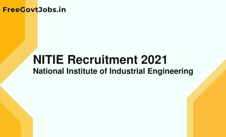 NITIE Recruitment 2021