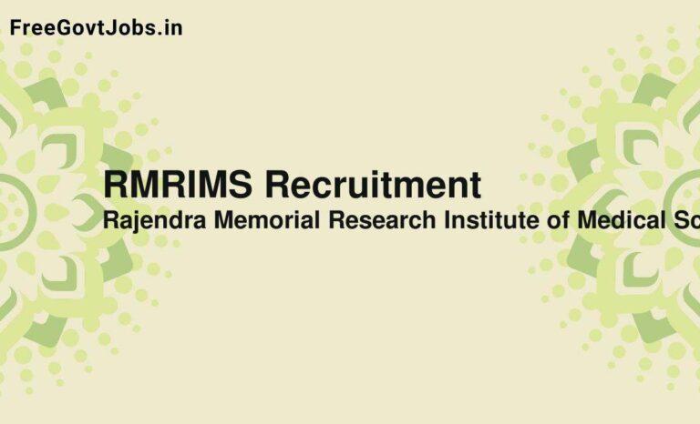 RMRIMS Recruitment