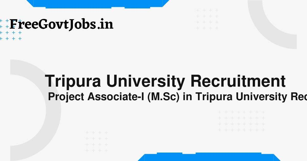 tripura university recruitment
