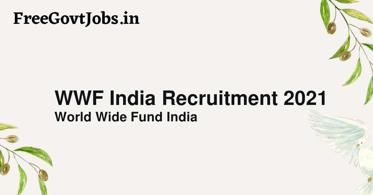 wwf india recruitment 2021