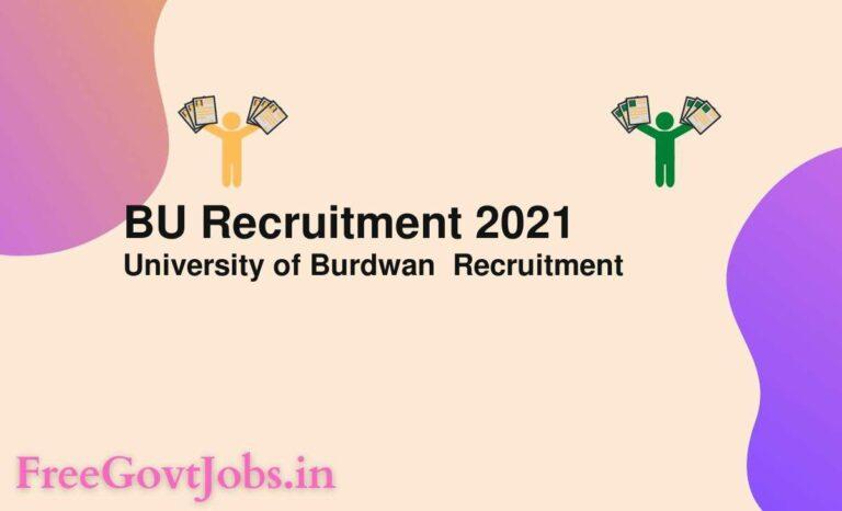 BU Recruitment 2021