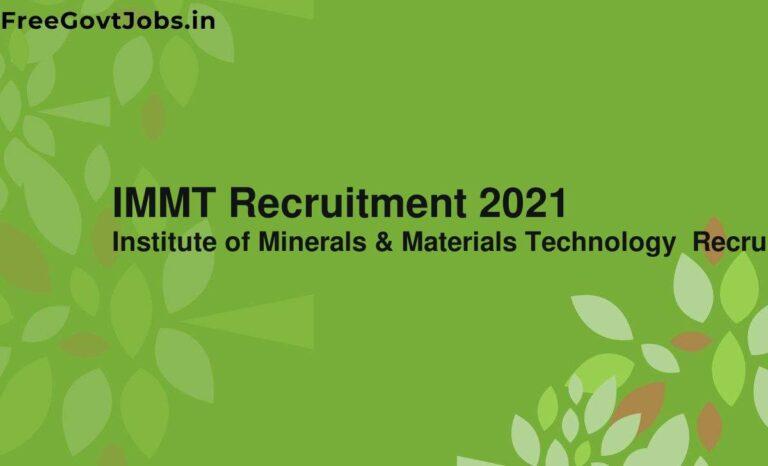 IMMT Recruitment 2021
