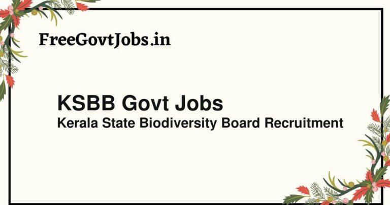 KSBB Govt Jobs