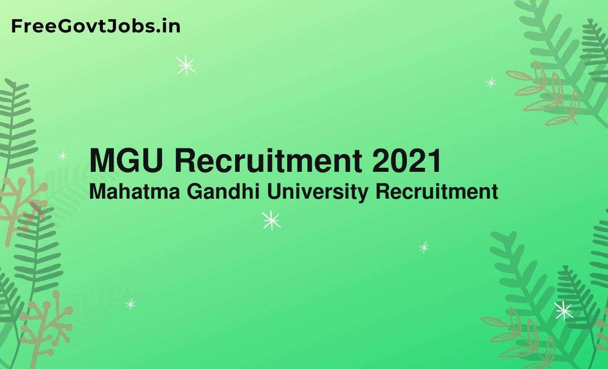 mgu recruitment 2021