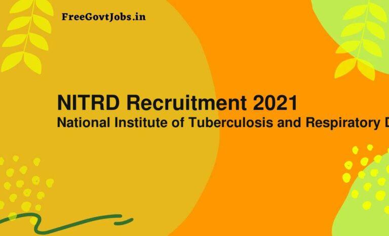 NITRD Recruitment 2021
