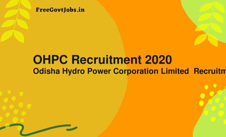 OHPC Recruitment 2020