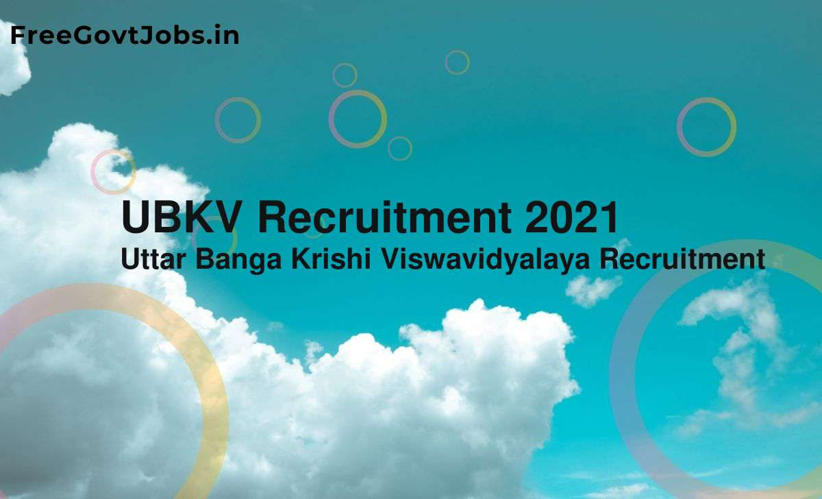 ubkv recruitment 2021
