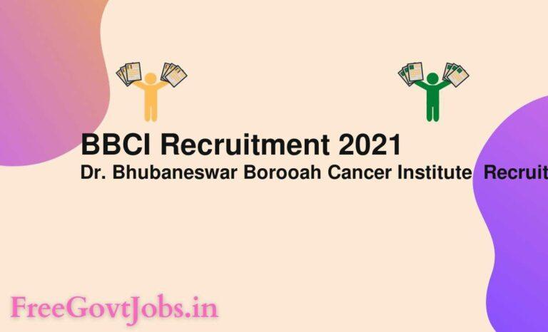 BBCI Recruitment 2021