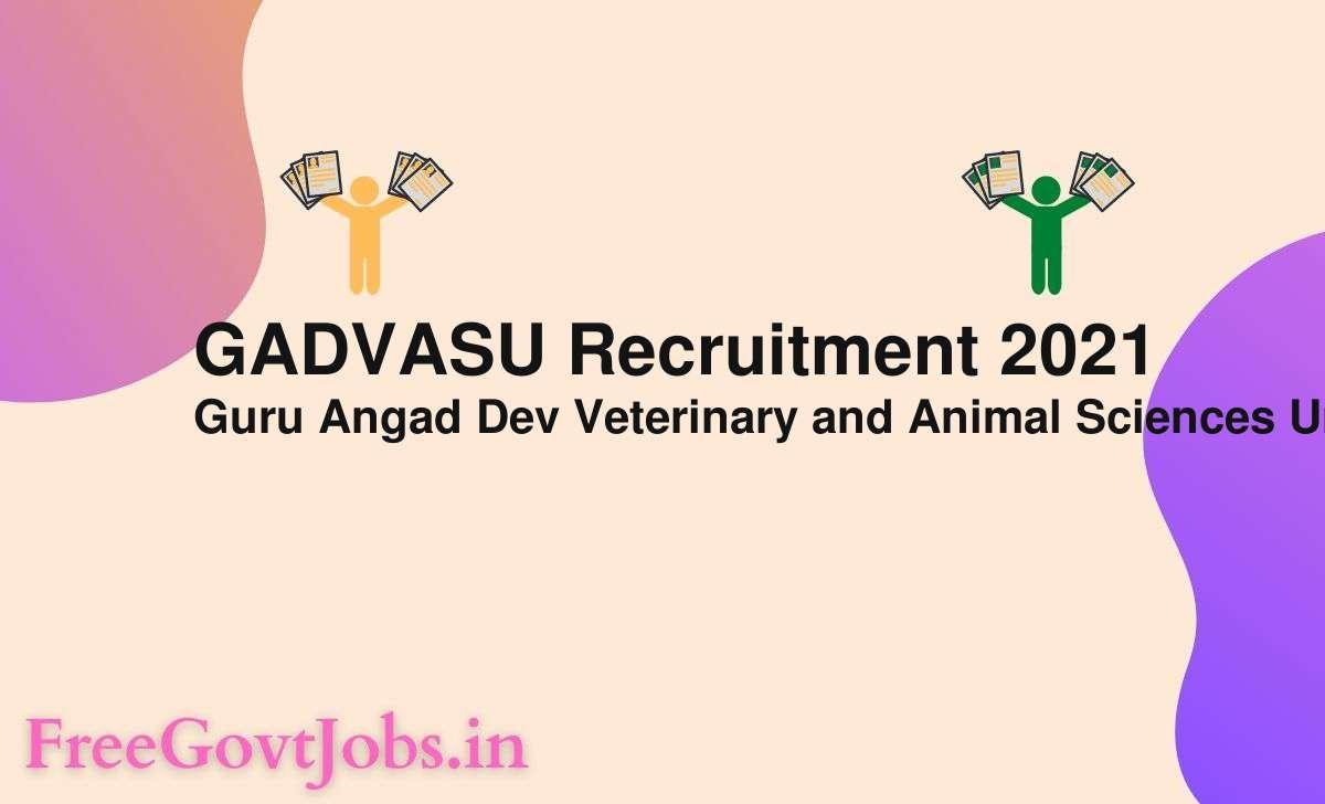 gadvasu recruitment 2021