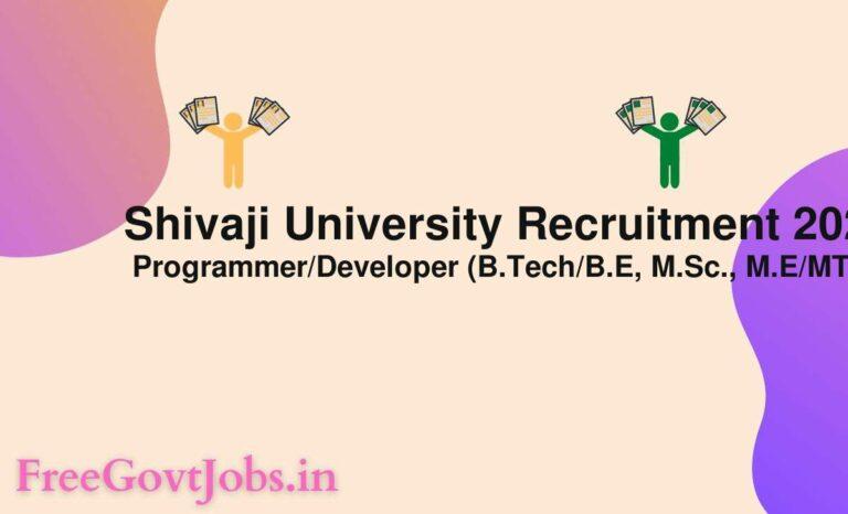 Shivaji University Recruitment 2021